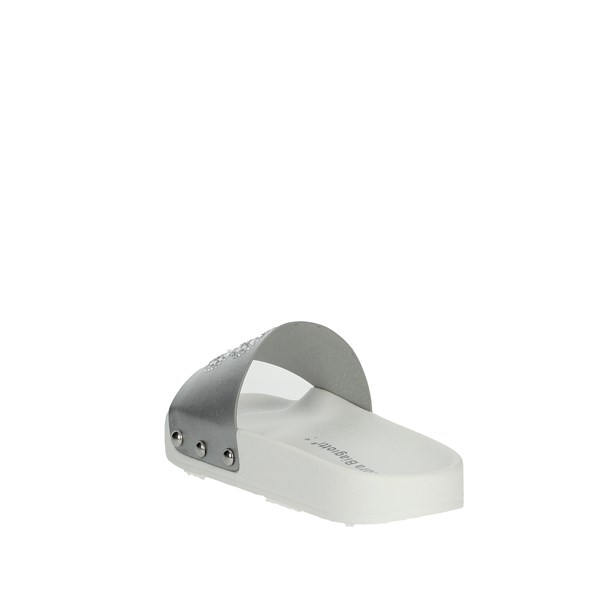 <Laura Biagiotti Dolls Shoes Clogs Silver L54401