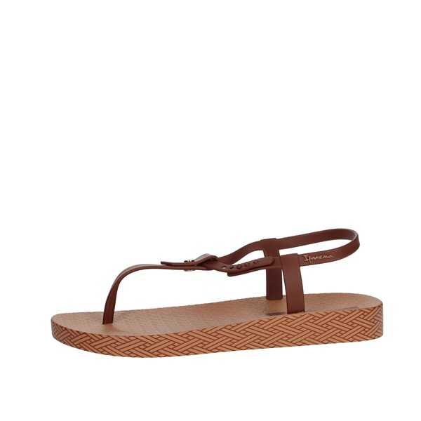 Ipanema Shoes Flops Brown leather 82626