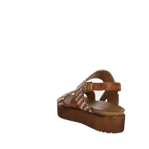 Donna Style Shoes Sandals Brown leather 19-537