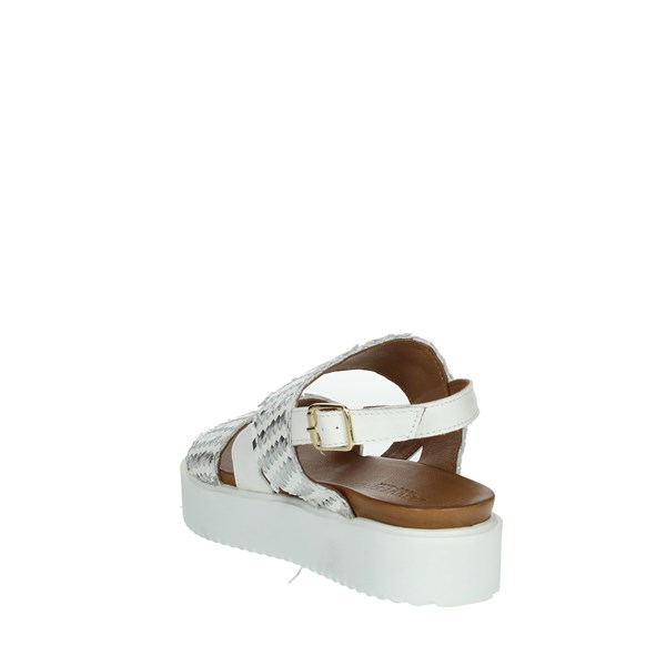 Donna Style Shoes Sandals White 19-537