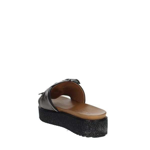 Donna Style Shoes Clogs Charcoal grey 19-281
