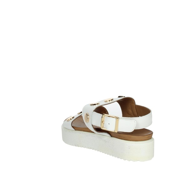Donna Style Shoes Sandals White 19-335