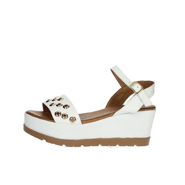 Donna Style Shoes Sandals White 19-5008