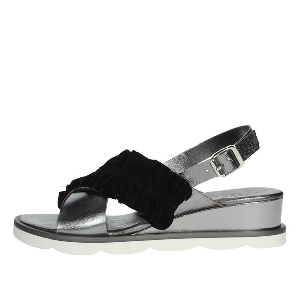 Cinzia Soft Shoes Sandals Black/Grey PF3342-LC