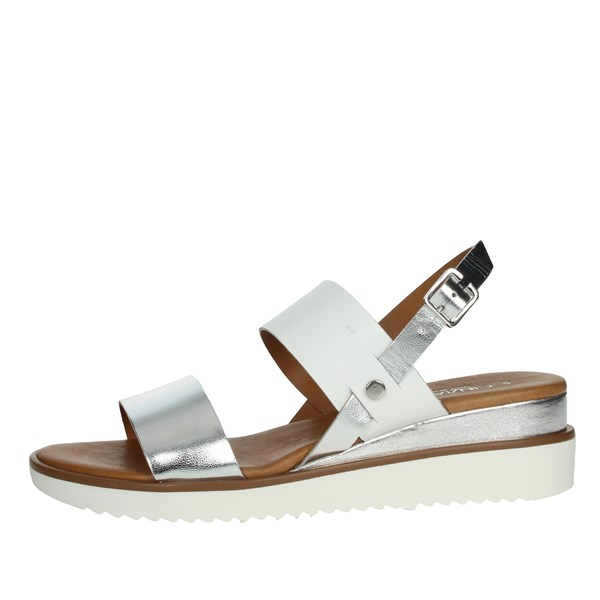 Cinzia Soft Shoes Sandals White/Silver PF16521