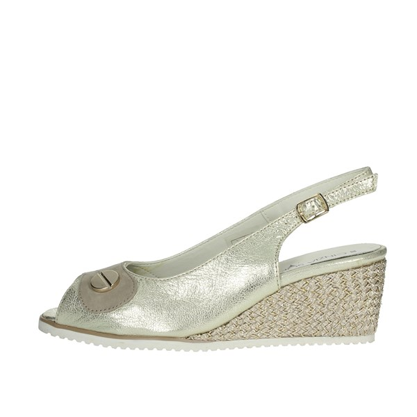 Cinzia Soft Shoes Sandals Platinum  IV10532-GSM