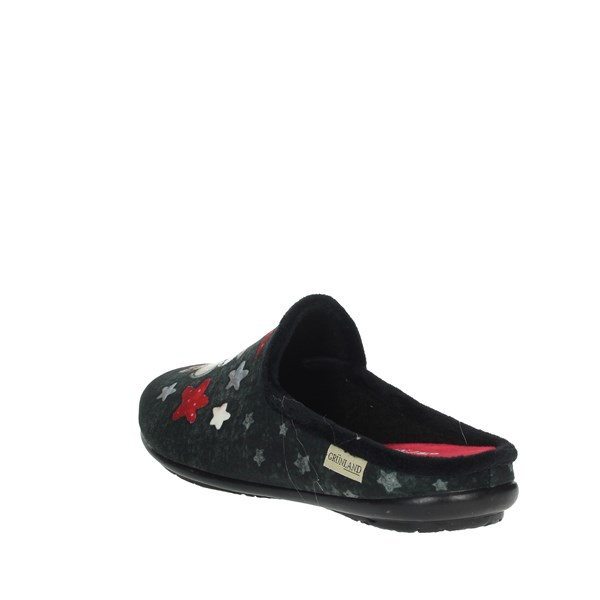 Grunland Shoes Clogs Black/Red CI2071-B5