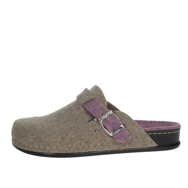 Grunland Shoes Clogs Brown Taupe CI0795-A6