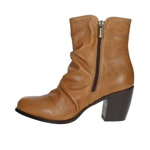 Elena Del Chio Shoes Ankle Boots Brown leather 5803
