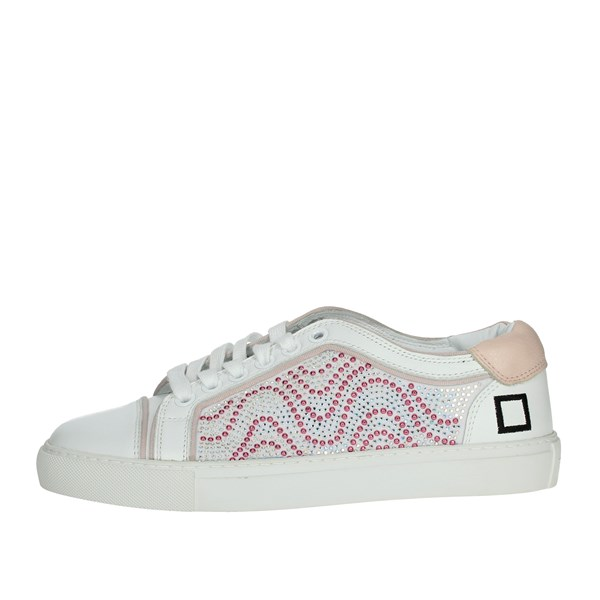 D.a.t.e. Shoes Sneakers White/Pink E20-6