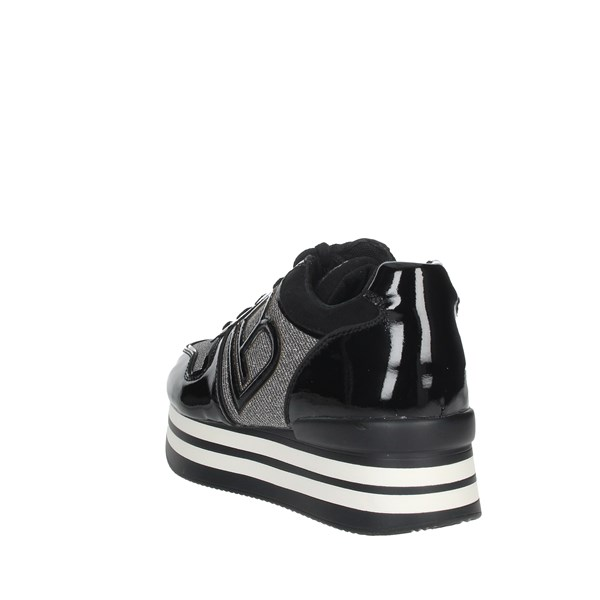 Laura Biagiotti Shoes Sneakers Black/Silver 5708