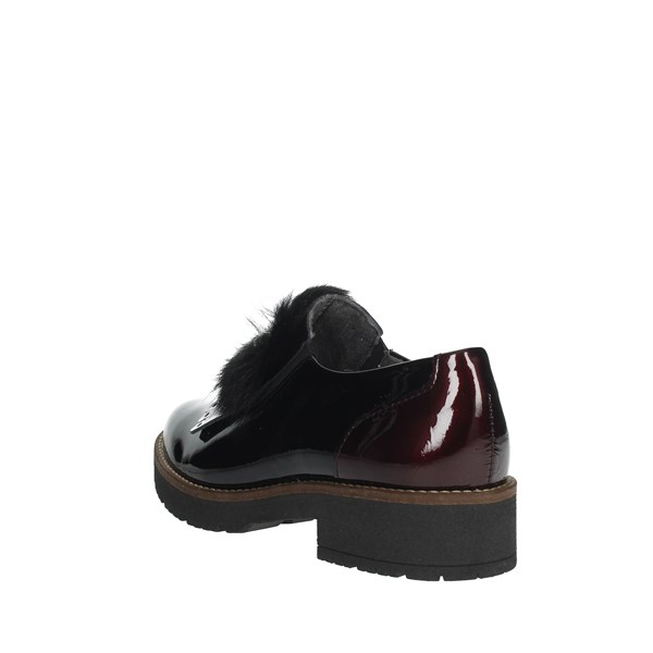 Pitillos Shoes Brogue Black/Burgundy 5792