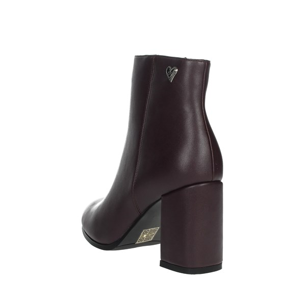 Braccialini Shoes Ankle Boots Burgundy TUA108