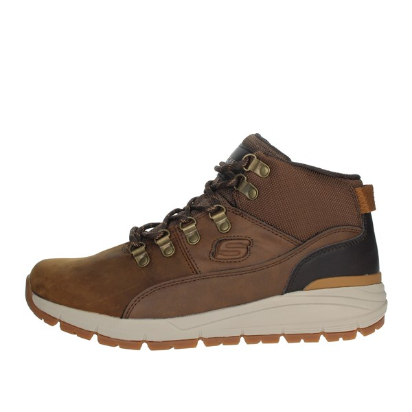 Skechers Shoes Laced Brown leather 66180