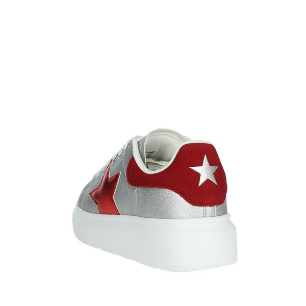 Shop Art Shoes Sneakers Silver 20552
