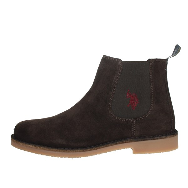 U.s. Polo Assn Shoes Ankle Boots Brown MUST3256W4/S9A