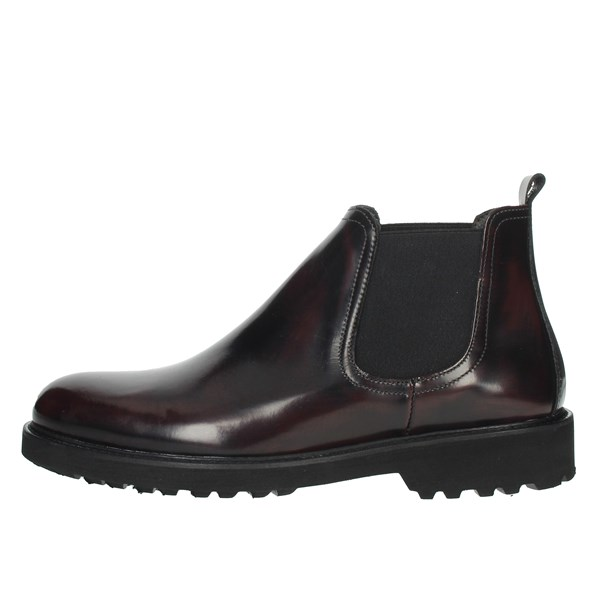 Exton Shoes Ankle Boots Burgundy 465