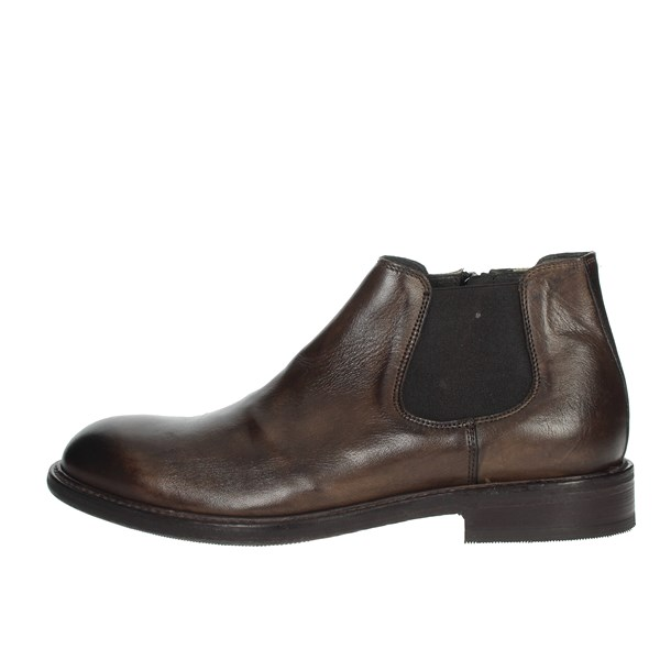 Exton Shoes Ankle Boots Brown 5357