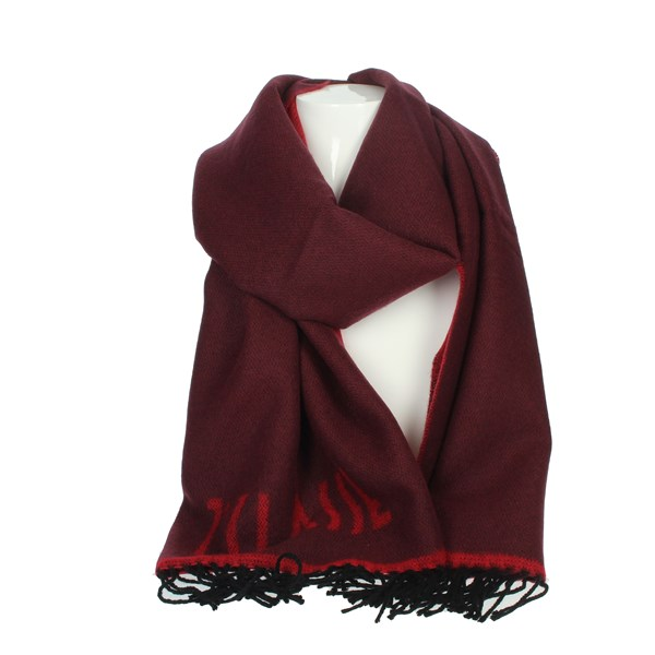1 Classe Accessories Scarves Burgundy S004 8545