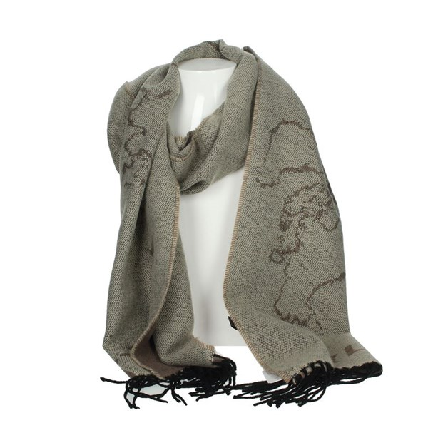 1 Classe Accessories Scarves Brown Taupe S006 AM07