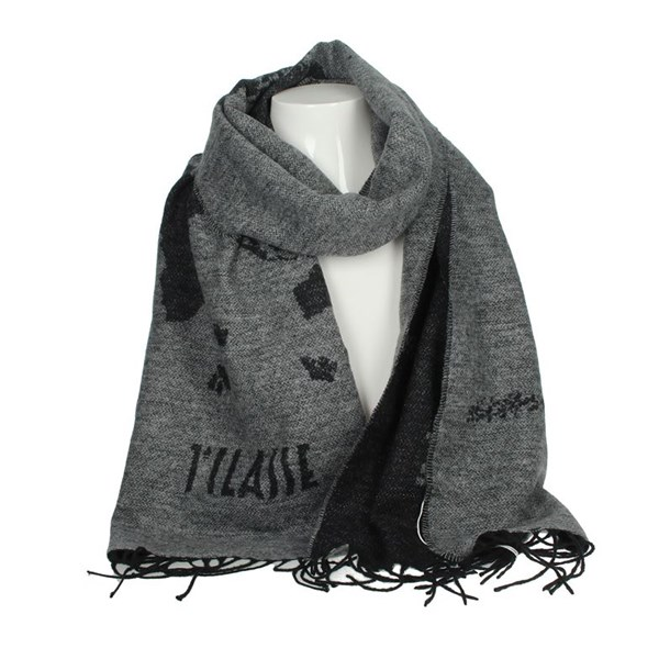 1 Classe Accessories Scarves Grey S032 7875