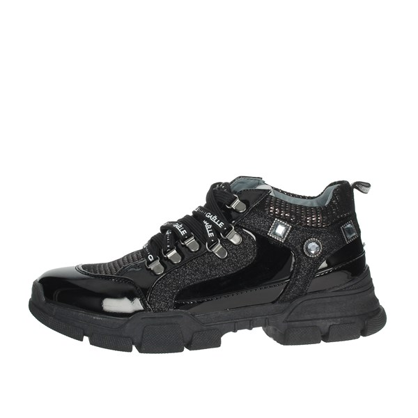 Gaelle Paris Shoes Sneakers Black G-121
