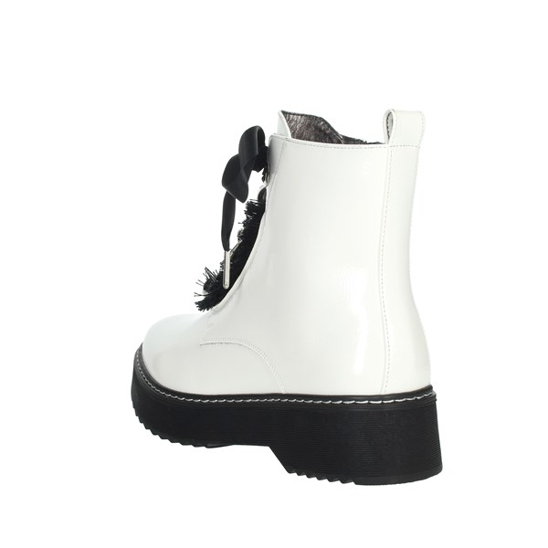 Keys Shoes Boots White K110