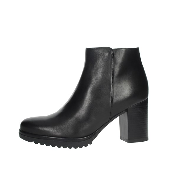 Keys Shoes Ankle Boots Black K-068