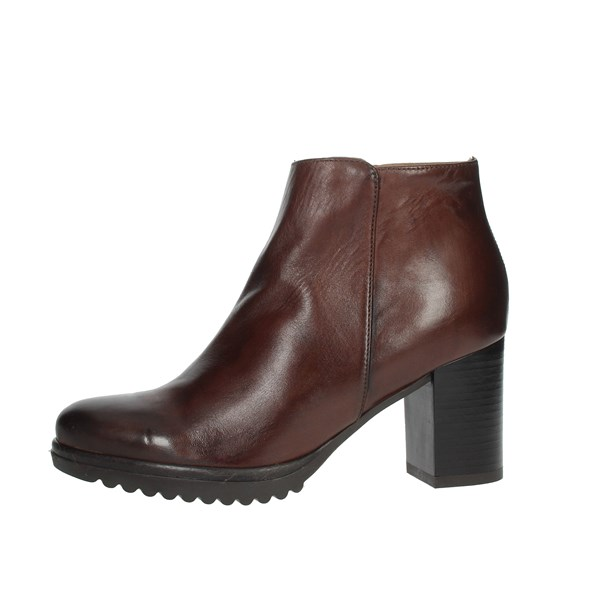 Keys Shoes Ankle Boots Brown K-068