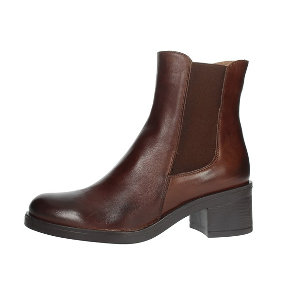 Keys Shoes Ankle Boots Brown K010