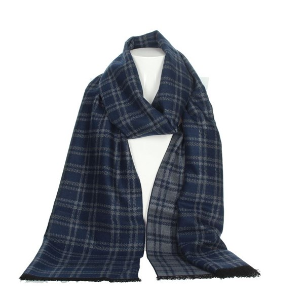 Jeckerson Accessories Scarves Blue/Grey SCR 12288