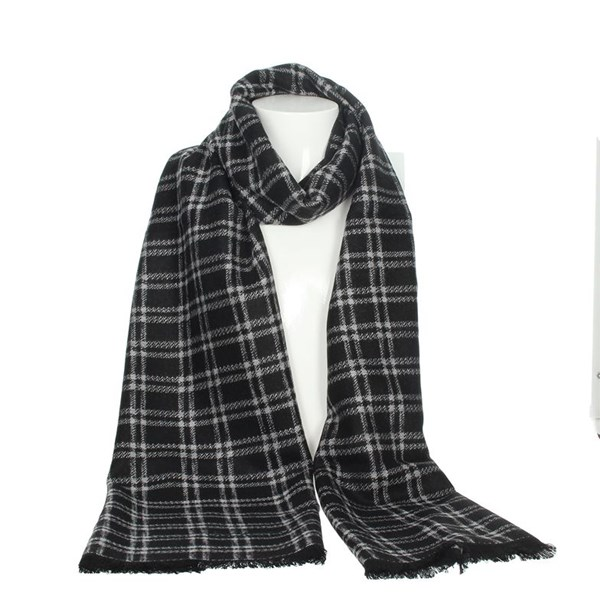 Jeckerson Accessories Scarves Black/Grey SCR 12288