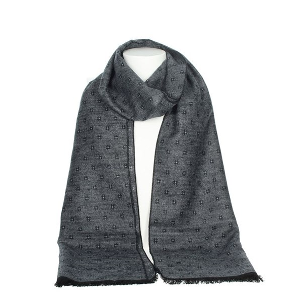 Jeckerson Accessories Scarves Grey/Black SCR 12287