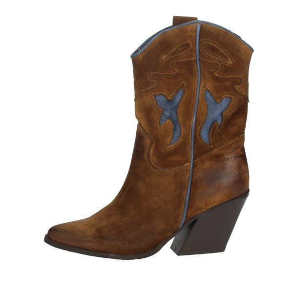 Marlena Shoes Boots Brown leather 704