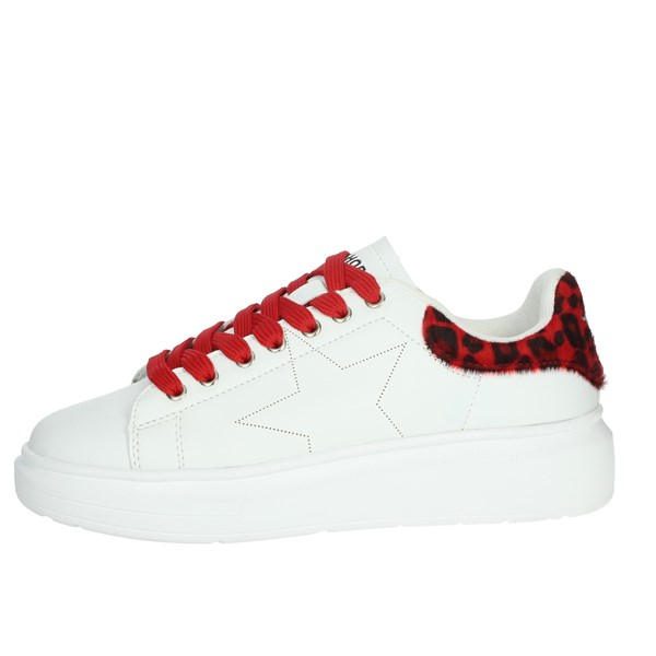 Shop Art Shoes Sneakers White/Red 20557