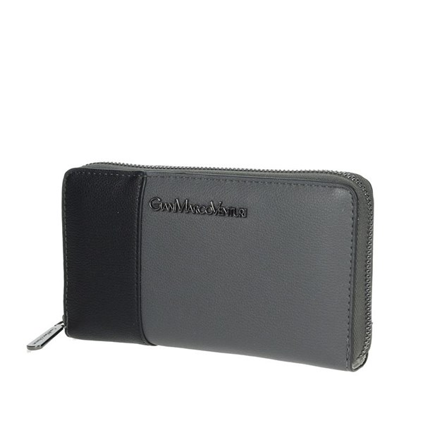 Gianmarco Venturi Accessories Wallets Grey/Black GWPD0006L32