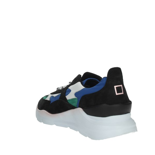 D.a.t.e. Shoes Sneakers Black/Blue E20-123