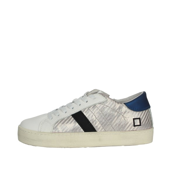 D.a.t.e. Shoes Sneakers White/Silver HILL LOW-21E