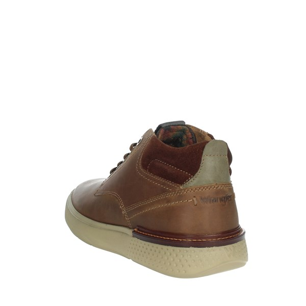 Wrangler Shoes Sneakers Brown leather WM92101A