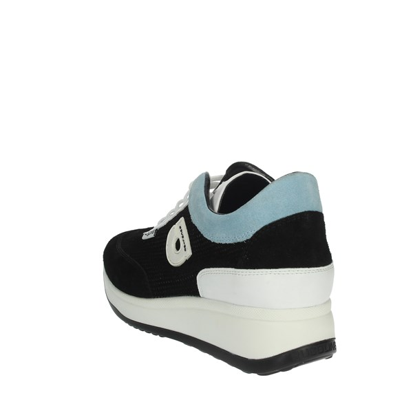 Agile By Rucoline  Shoes Sneakers Black/Sky-blue 1304