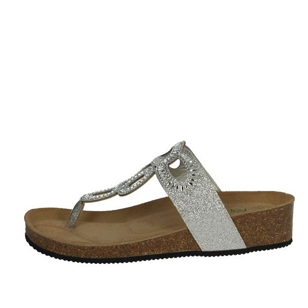 Riposella Shoes Flip Flops Silver C17