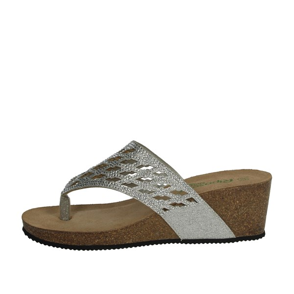 Riposella Shoes Flip Flops Silver C8
