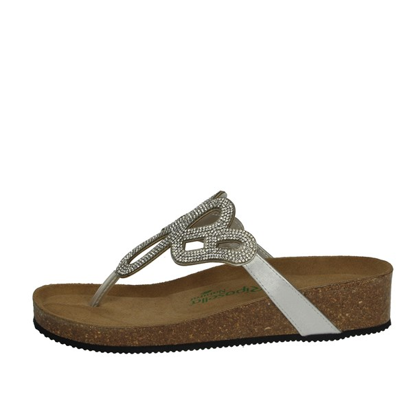 Riposella Shoes Flip Flops Silver C20