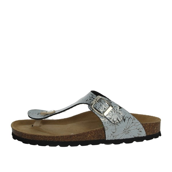 Riposella Shoes Flip Flops Silver C113