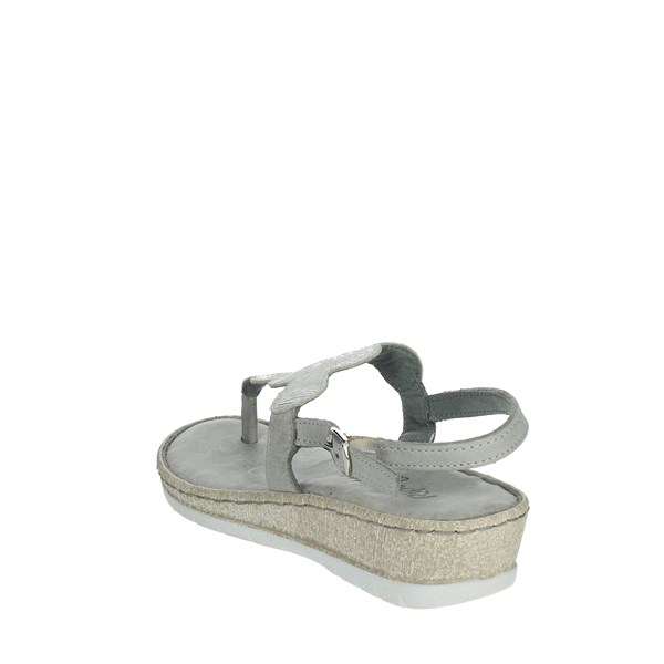 Riposella Shoes Flip Flops Silver C443