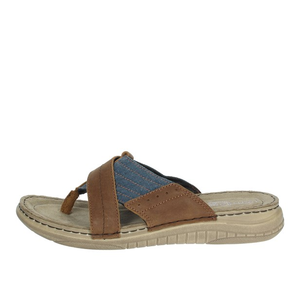 Uomodue Shoes Flip Flops Brown leather C284