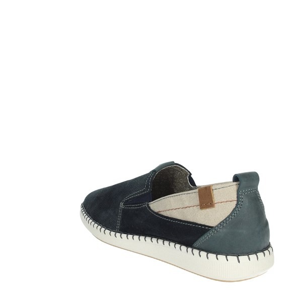 Uomodue Shoes Moccasin Blue C268