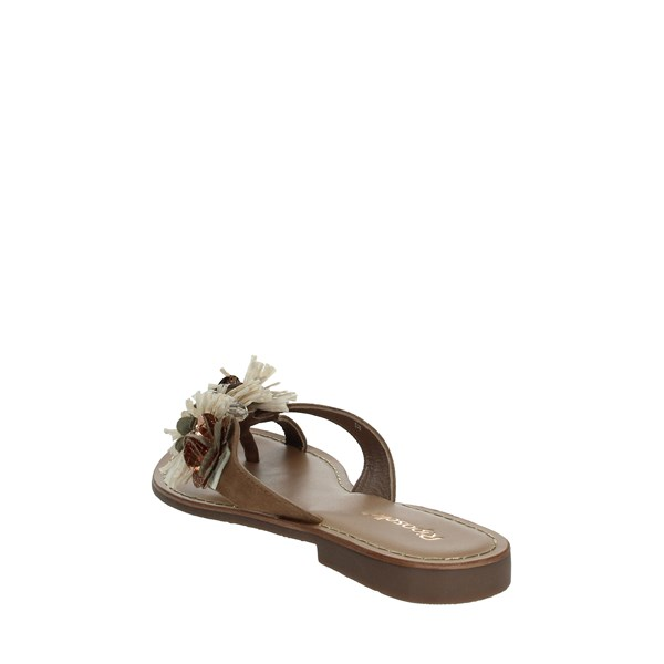 Riposella Shoes Clogs Brown Mud C341