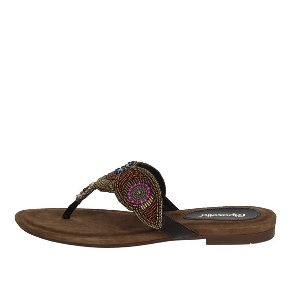 Riposella Shoes Flip Flops Brown C329