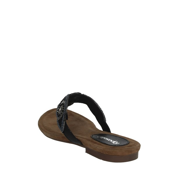 Riposella Shoes Flip Flops Black C327